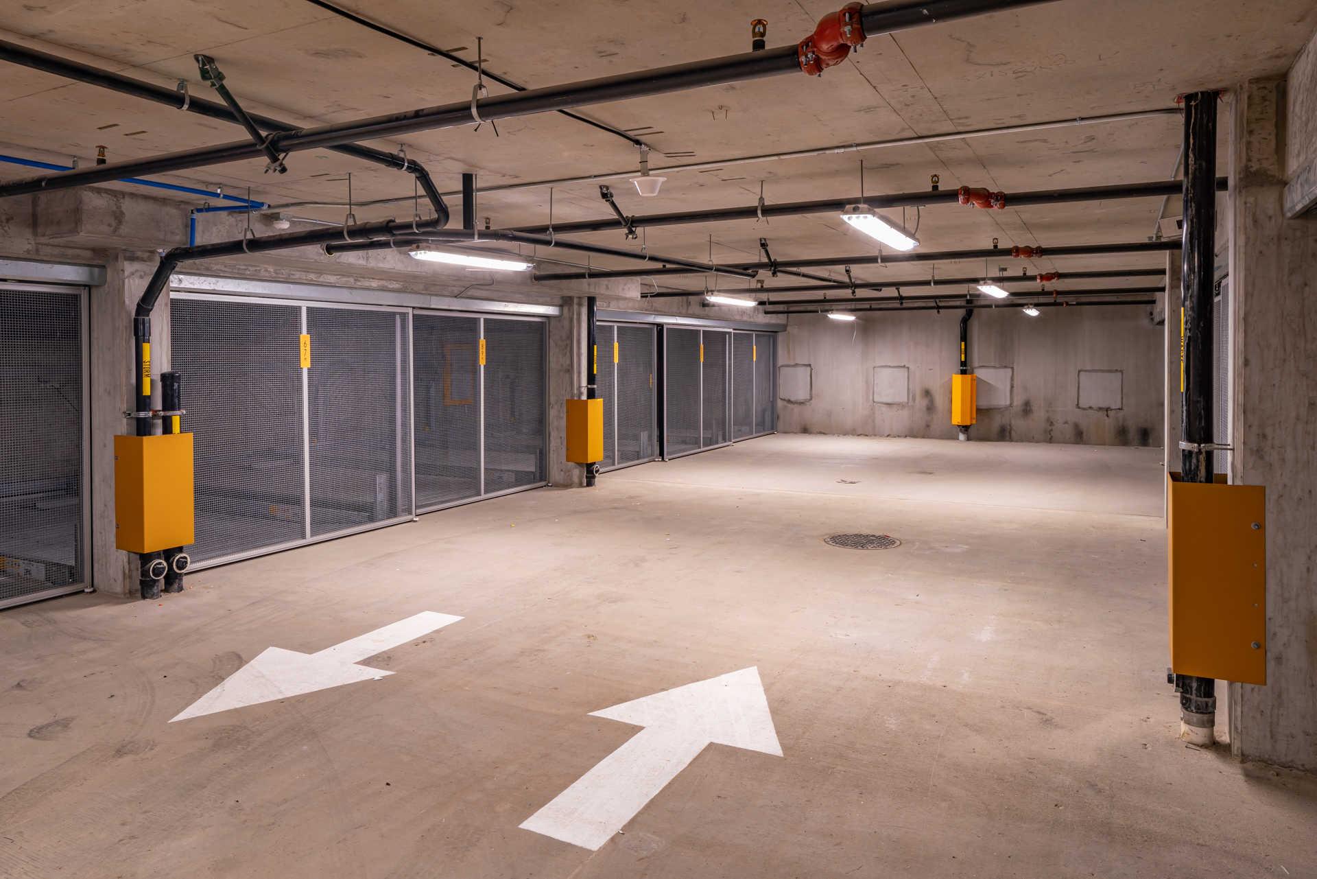 Car parking garage at Ivy Interbay apartments